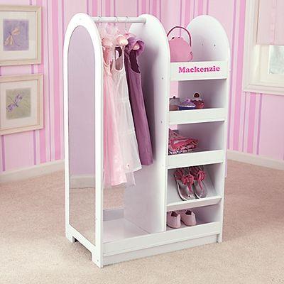 Girls Dress Up Storage Wardrobe With Mirror Onestepahead