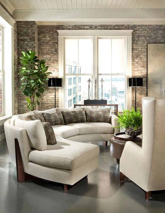 These 20 Curved Sectional Couches Are Perfect For Big Families is part of Curved Sectional Living Room - With these 20 curved sectional couches you'll have the space to entertain, relax with the family and utilize every bit of your living room  Check out our