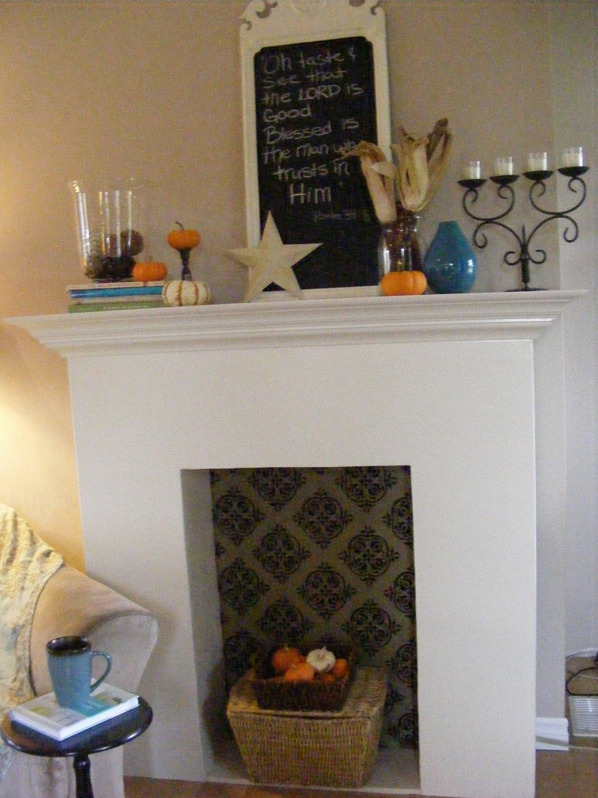 A faux fireplace you say fireplace pinterest faux fireplace