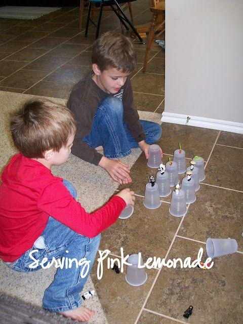 Serving Pink Lemonade: Cup Towers