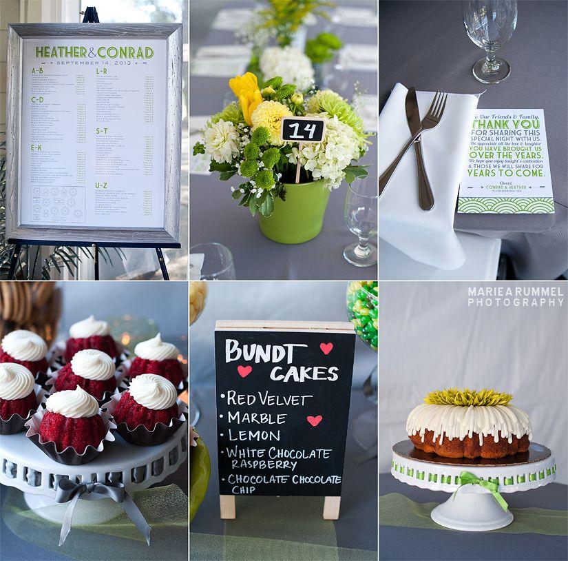 Conrad and heather green wedding colors