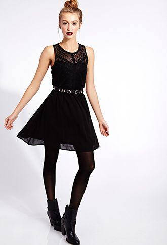 Enchanted Lace Fit & Flare Dress | FOREVER 21 - 2000074917.  Great gift idea for a teen!