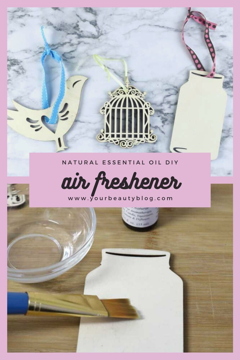 Diy hanging air freshener with essential oils in 2020