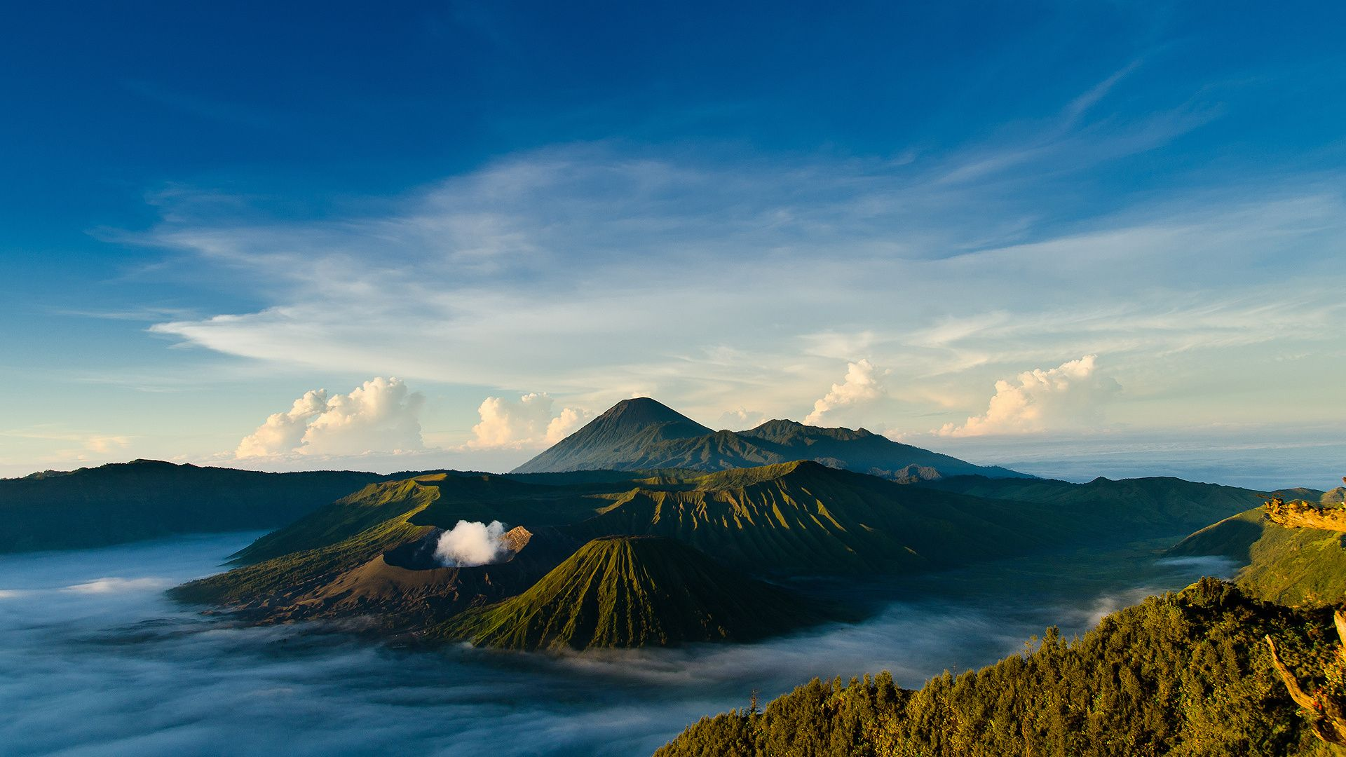 Amazing Mountains Clouds Nature Hd Wallpaper 1920x1080 Hd Scenery Mountain Landscape Photography Volcano Wallpaper