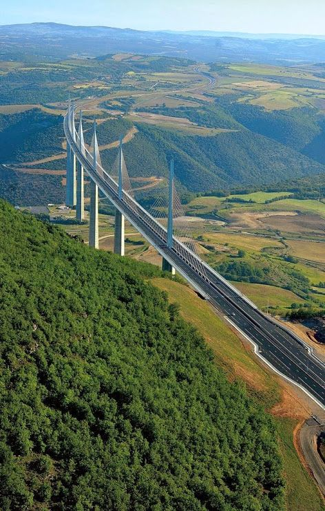 Millau Viaduct On The A75 In Southern France