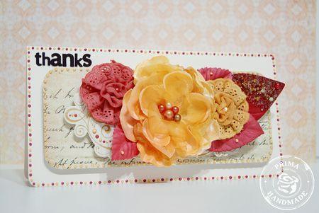 Card by Frank Garcia for Prima using Banda flowers.