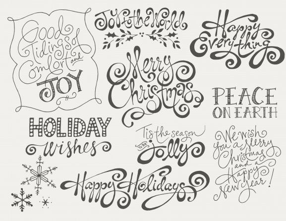 Holiday Word Art Overlays by Jamie Schultz Designs – Christmas Card Word