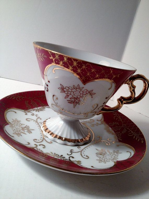This is my personal favorite...  Lefton China Teacup and Saucer in White Berry by itsasimplelife, $15.50