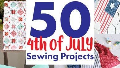 50+ 4th of July Sewing Projects + DIY Patriotic Patterns #babyheadbandtutorial