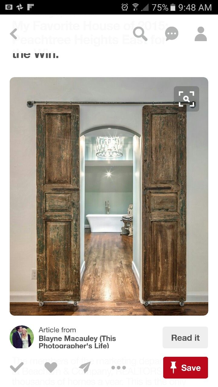 This Style Of Doors Between The Master Bath And Master