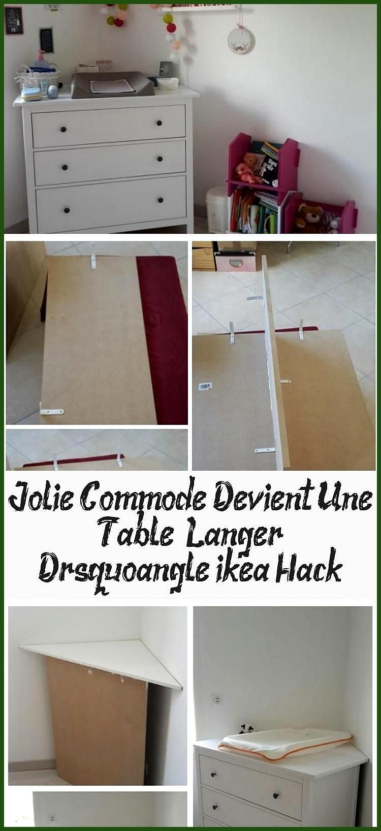 Commode A Langer Angle jolie commode devient une table langer d rsquo angle ikea