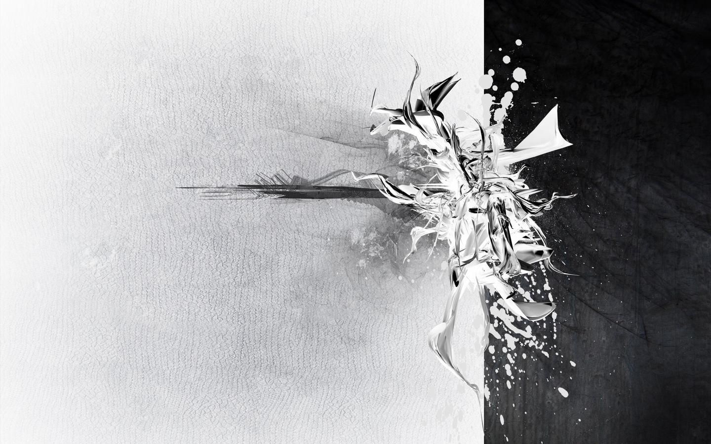 abstract art black and white painting - wallpaper. | paintings