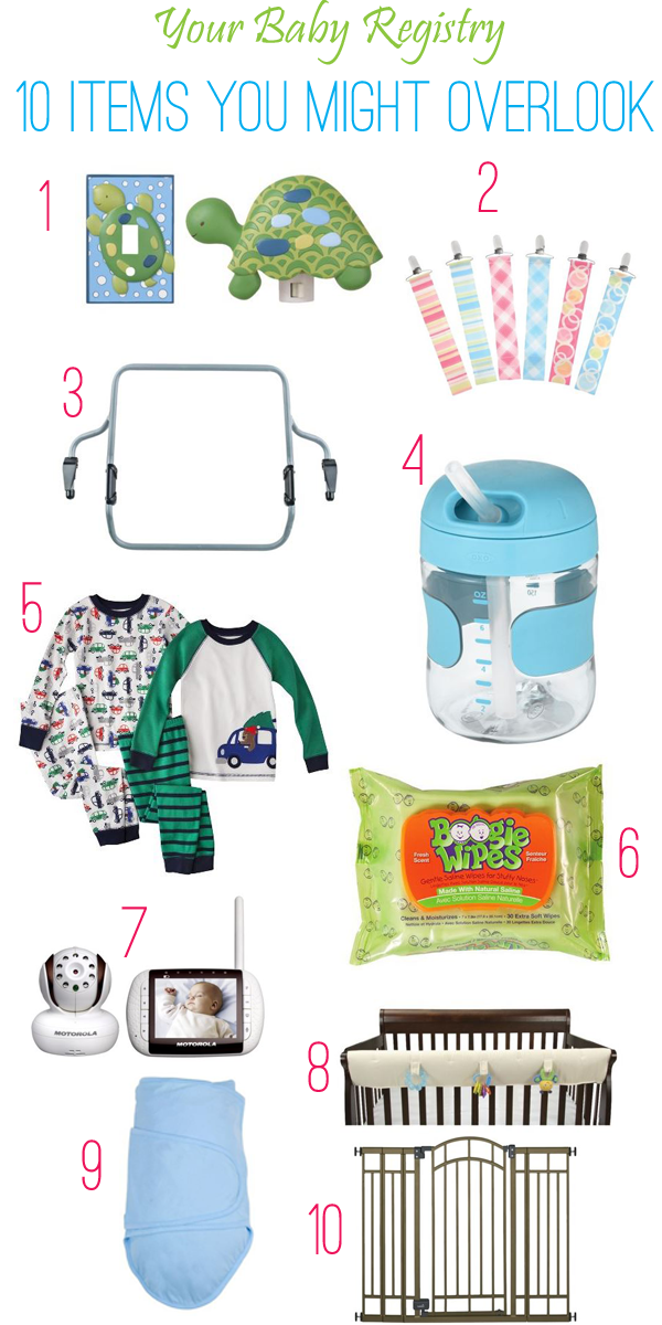 Top 10 baby registry items you never you knew you needed