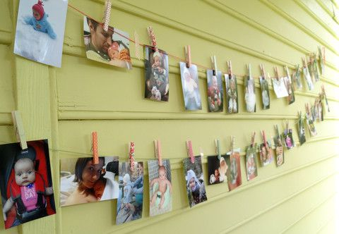 Lennox\'s First Birthday Party | Clothespin photo displays, Washi ...