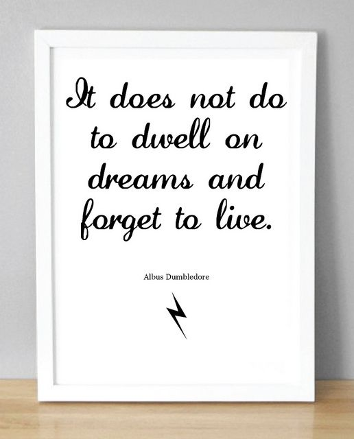 Dumbledore Born Quote Featuring Fawkes the Phoenix Print