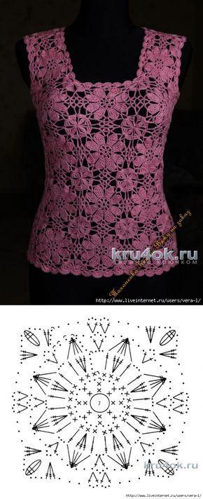 букет голубых фиалок вязание крючком Tricot Et Crochet Tricot и