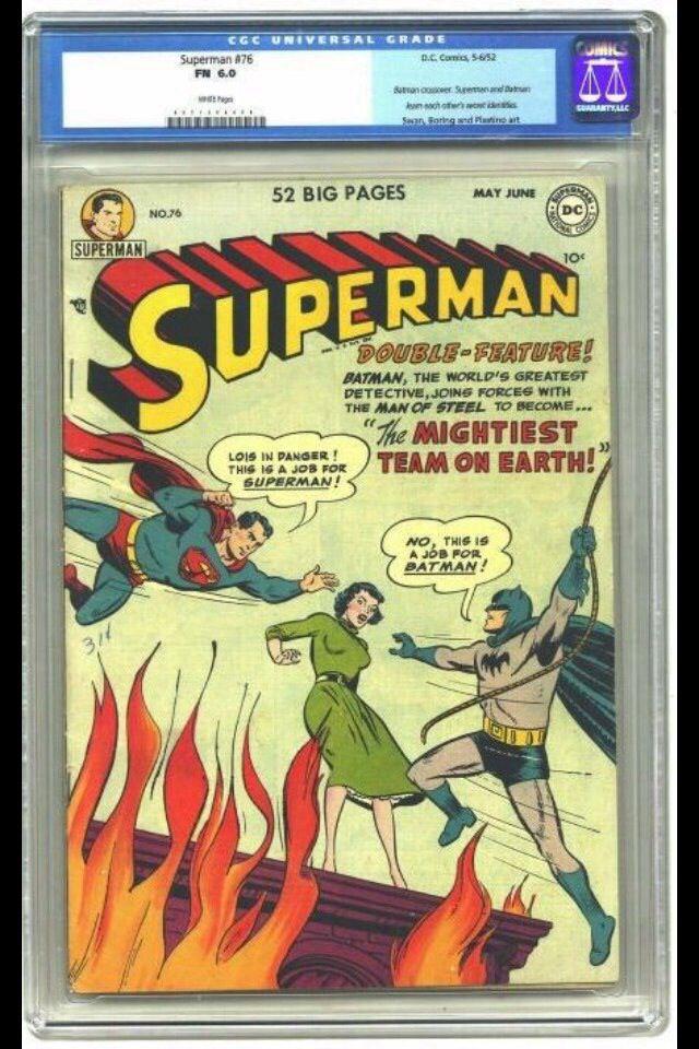 superman 76 dc 1952 graded cgc fn 6 0 1st batman superman