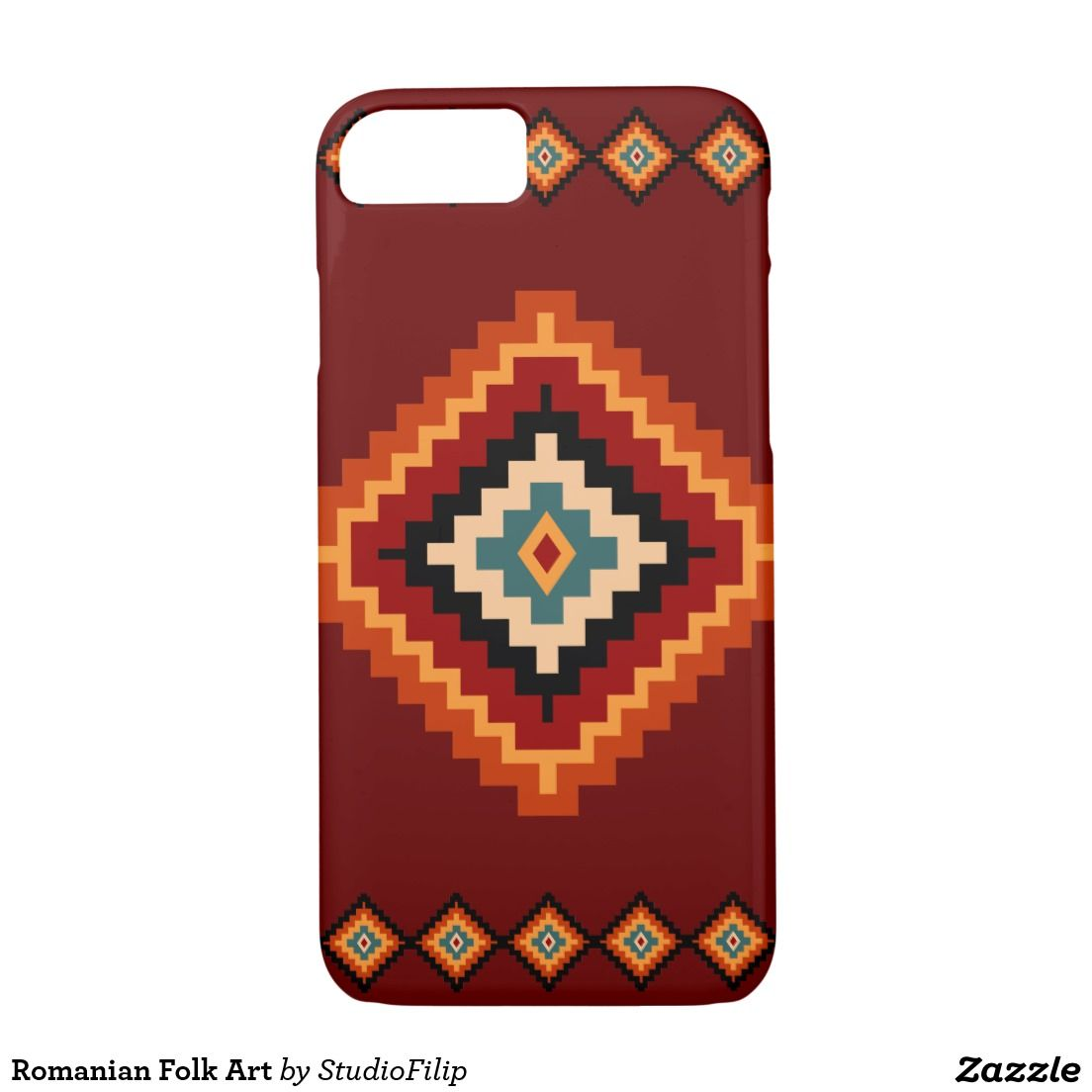 Romanian Folk Art iPhone 7 Case