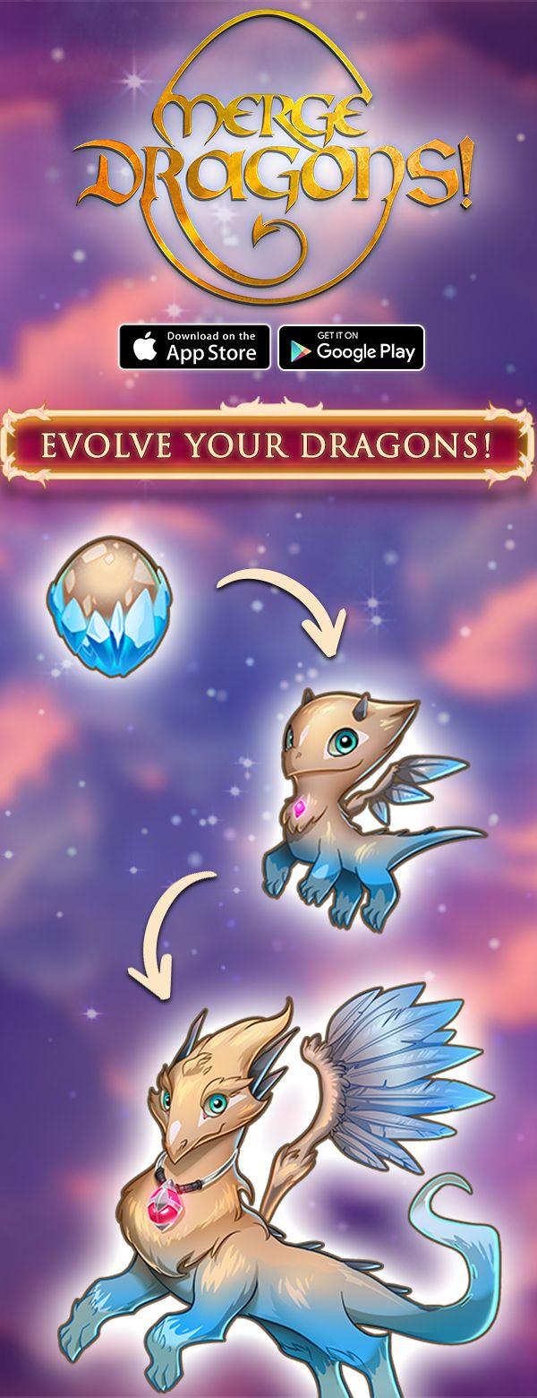 Match & Merge! Dragon, Mystical world, Fantasy creatures