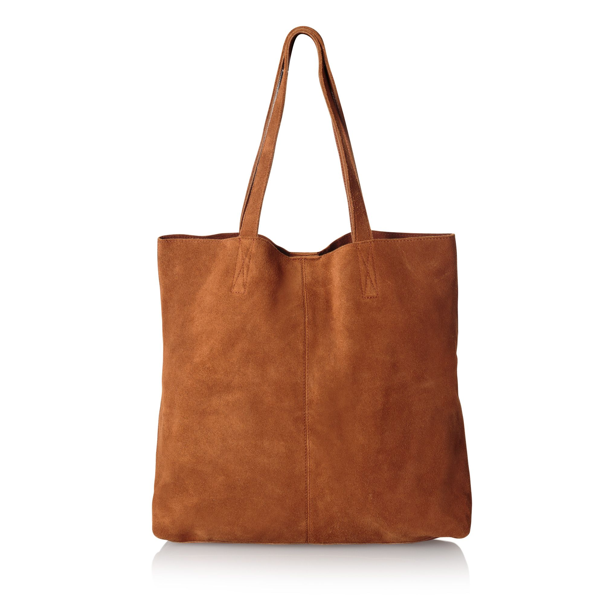 Buy the Izzy Suede & Leather Shopper Bag at Oliver Bonas. Enjoy free  worldwide standard