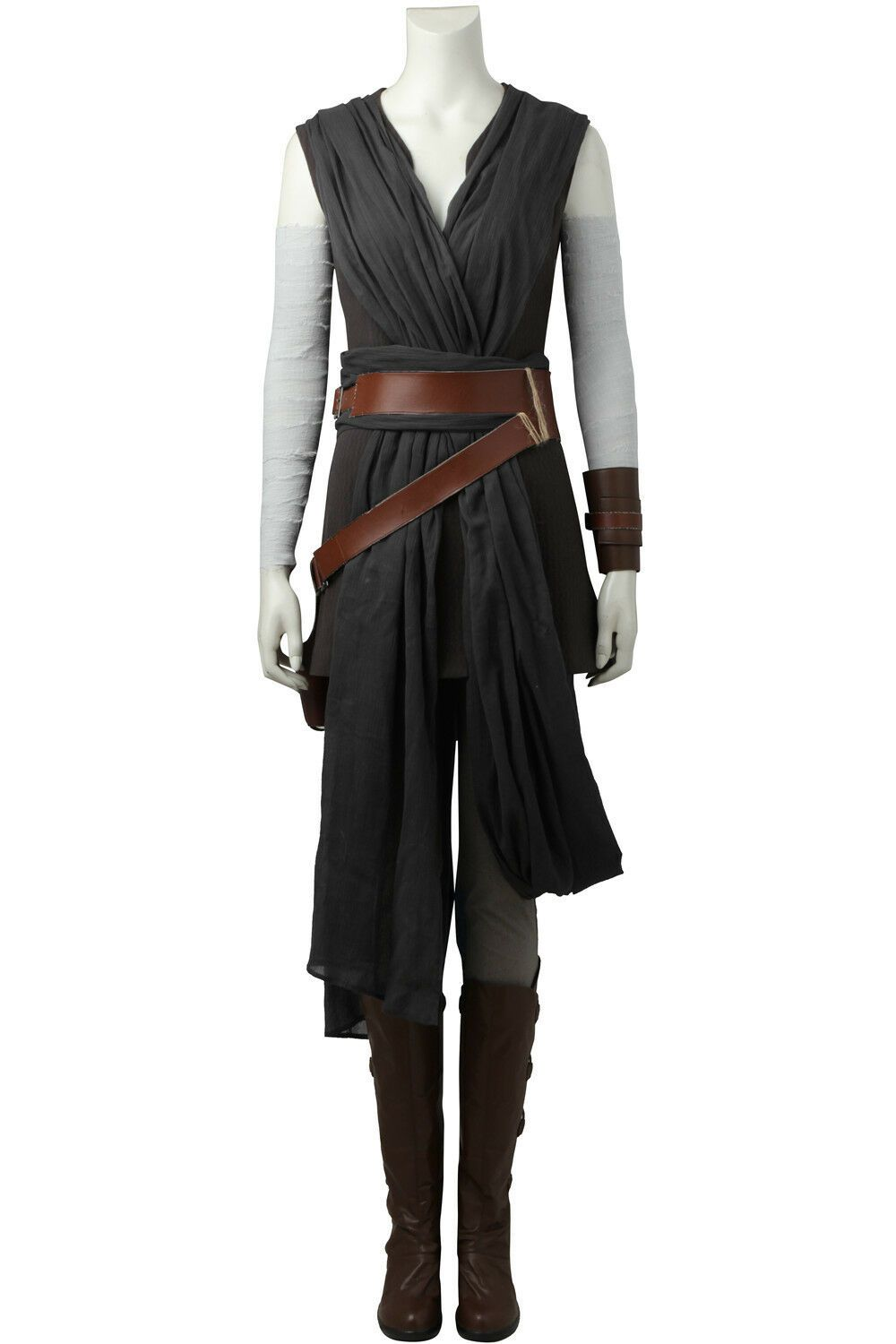 The Last Jedi The Force Awakens Star Wars 8 Cosplay Rey Outfit Ver.2 Costume