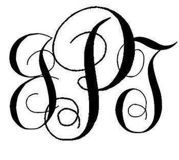 easy diy interlocking script monogram