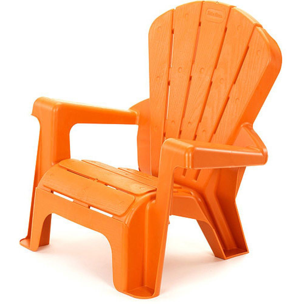 Kids Garden Chair Orange Wide Armrest Comfy Back Garden Patio