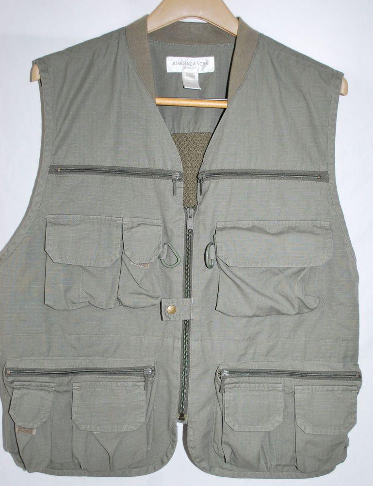 Jones new york sport vest women 39 s xl fishing shooting vest for Womens fishing vest