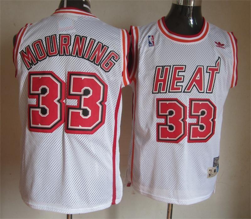 559bd62dfbc Adidas NBA Miami Heat 33 Alonzo Mourning Soul Swingman Home White Jersey