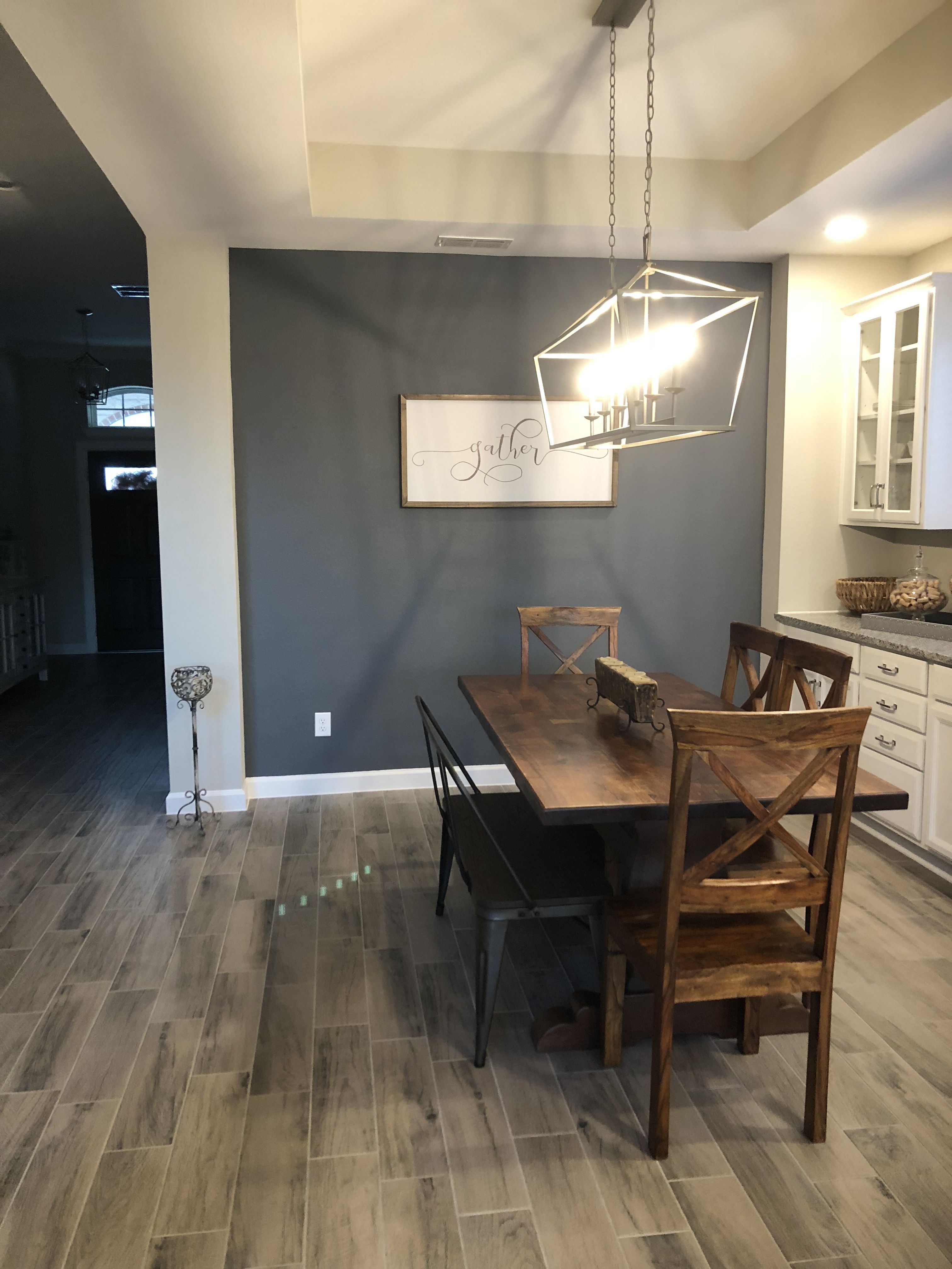 Benjamin Moore Trout Gray Grey Paint Living Room Dining