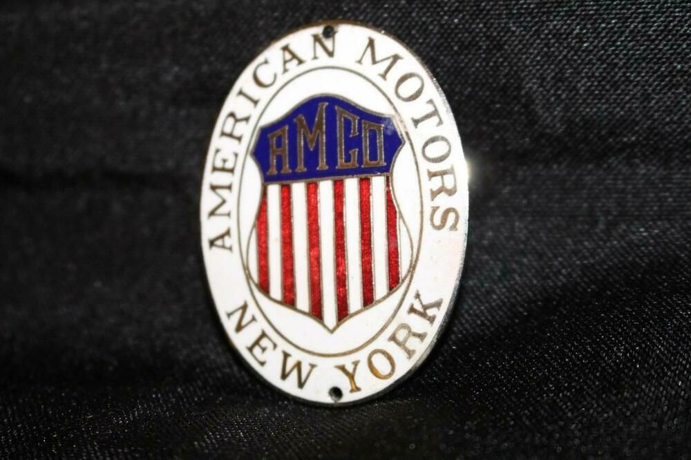 American Motors Amco New York Radiator Badge Car Auto Emblem Sign