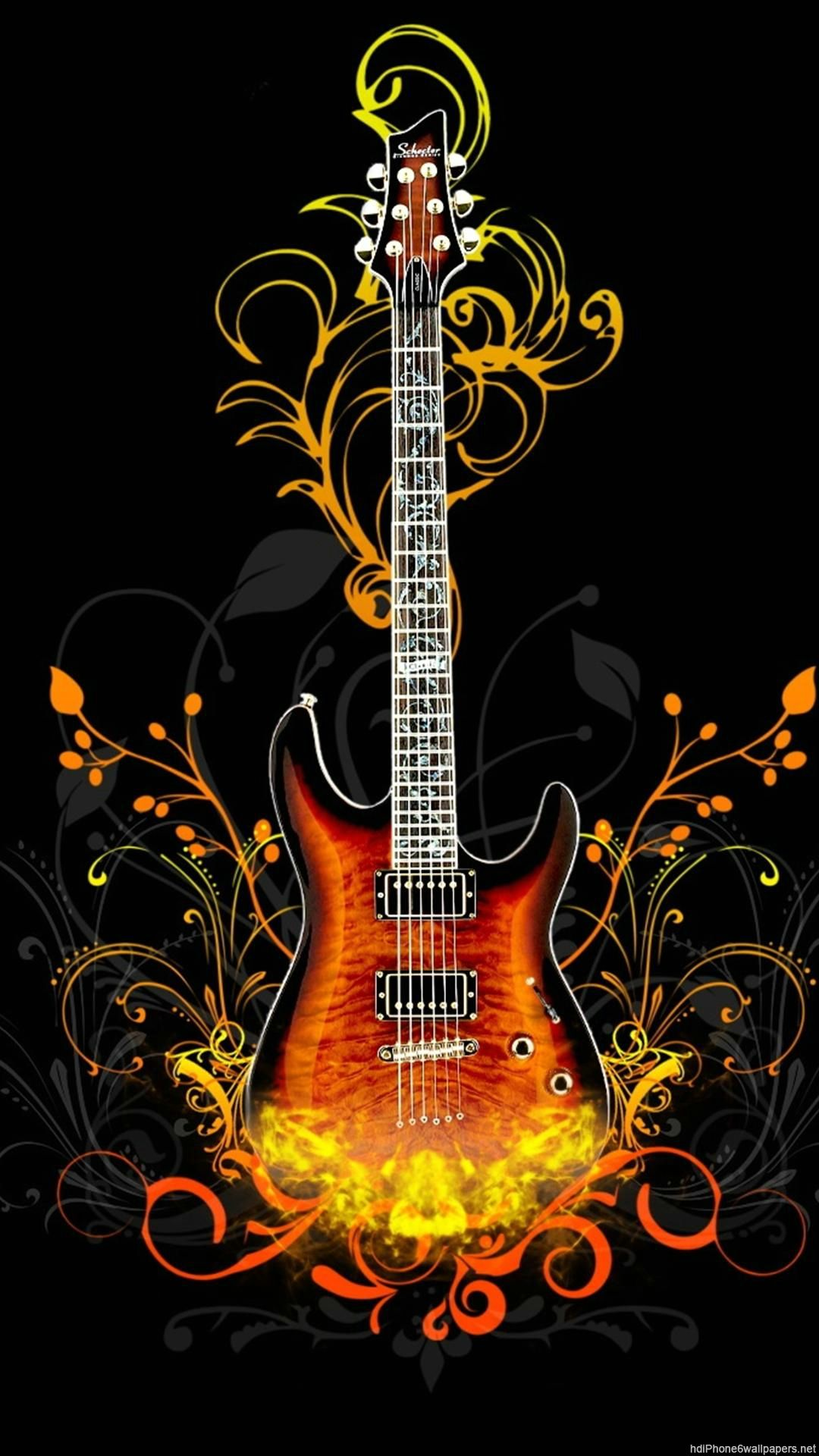 3d Guitar Wallpaper Iphone Iphonewallpapers Music Guitar