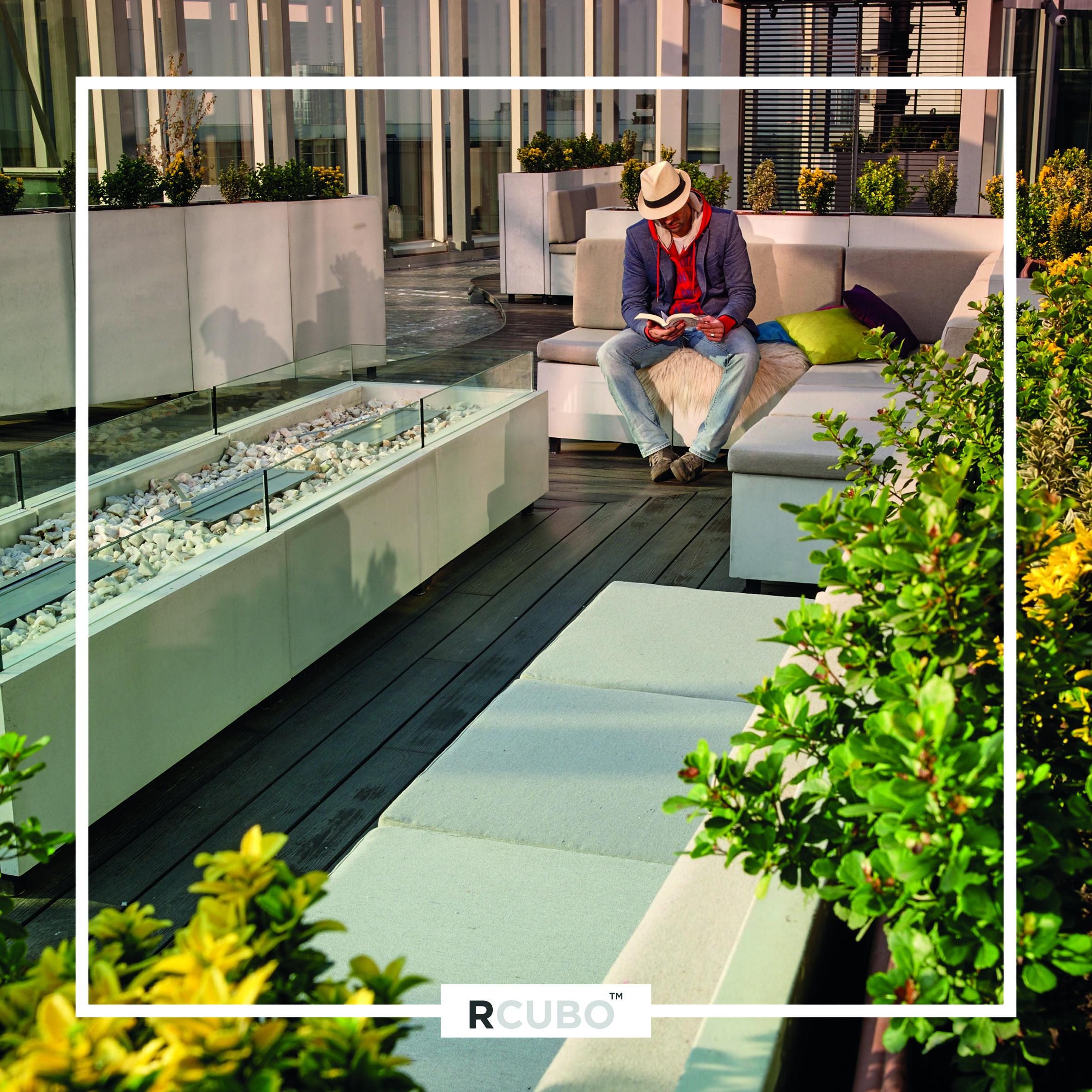 Conjunto Modular De Terraza Exterior En Cemento Gran Tico Rcubo  ~ Jardineras De Obra Para Terraza