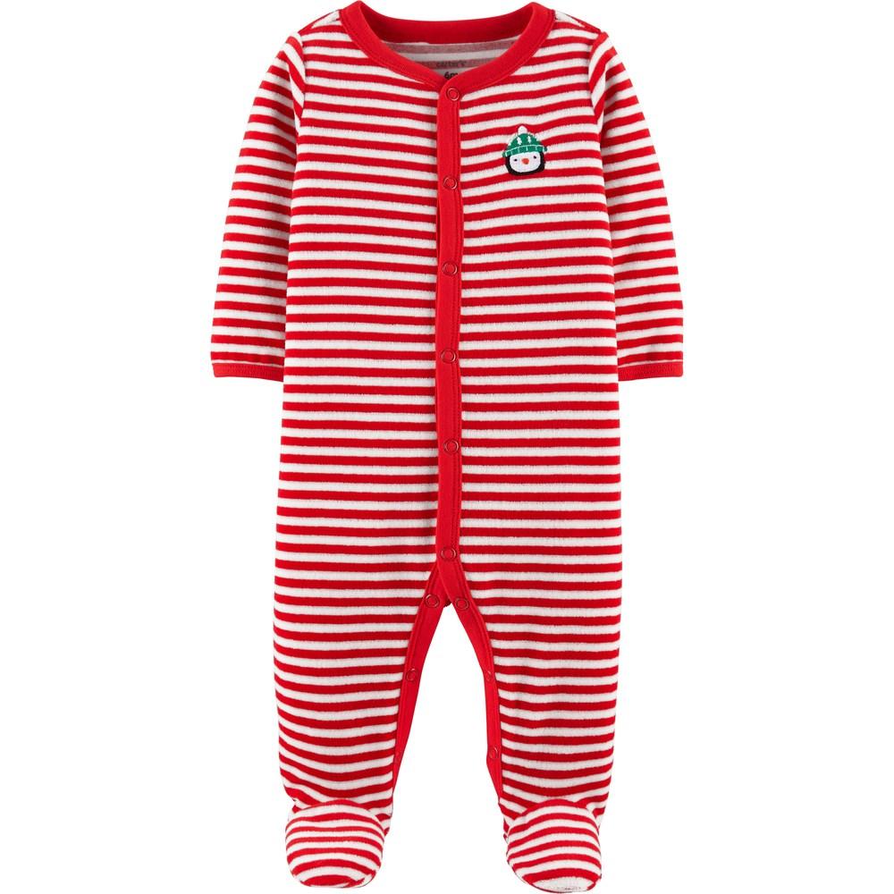 ae5b7ae6ccc1 Carter s Baby Striped Velour Sleep   Play