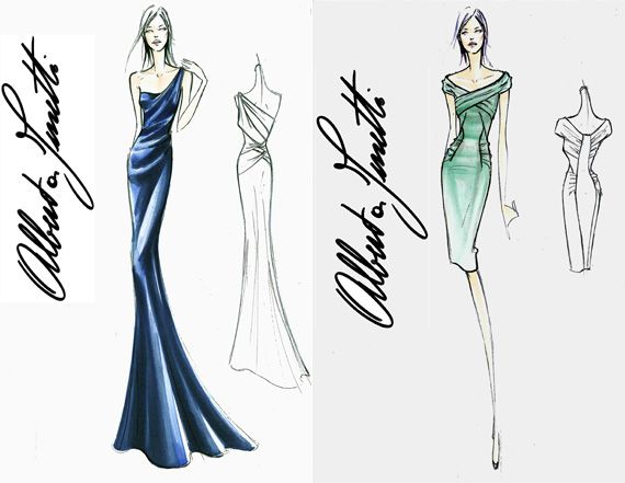 Fashion Design Sketches | Dress Designs on Top Five Wedding Dress ...