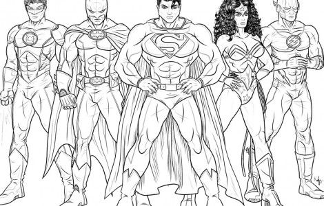 Justice League Coloring Pages | coloring book | Pinterest | Coloring ...