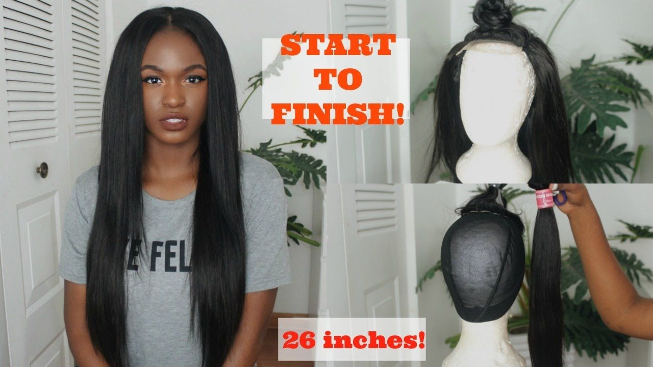 How to sew a straight lace wig from start to finish