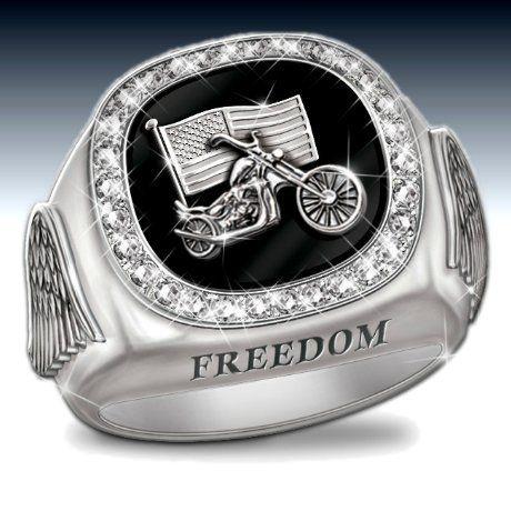 Men's Diamond Custom Biker Ring | Jewelry, Bradford ...