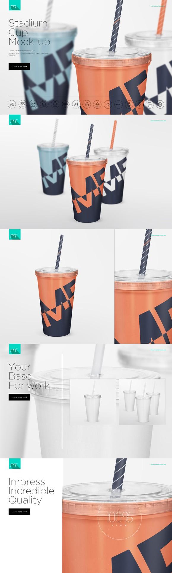 Stadium Cup Mock Up Plastic Cups Design Mockup Stadium Cups
