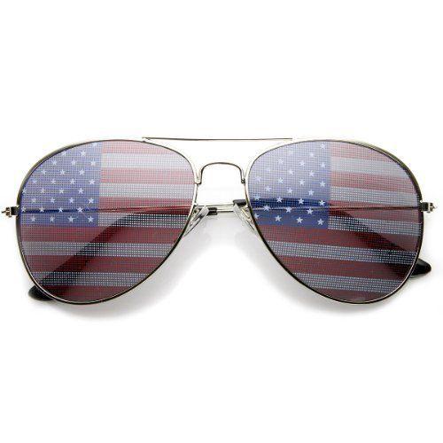 American Flag Aviator Sunglasses Glasses 634949227800 Aviator Sunglasses Silver Metal Aviator Sunglasses American Flag Sunglasses