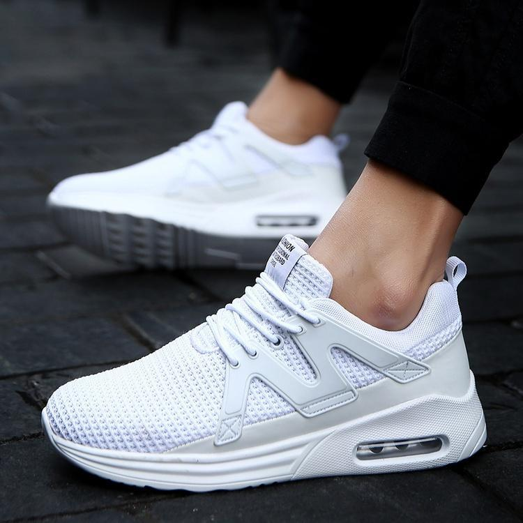 Mens Casual Walking Trainers Sneakers Breathable Fitness Mesh Shoes Sports Size