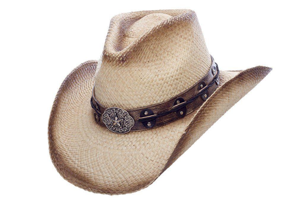 Pistolero White Austin Panama Straw Cowboy Hat With Pinchfront Crown Cowboy Hats Straw Cowboy Hat Hats