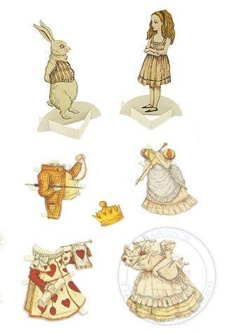 Alice Paper doll set