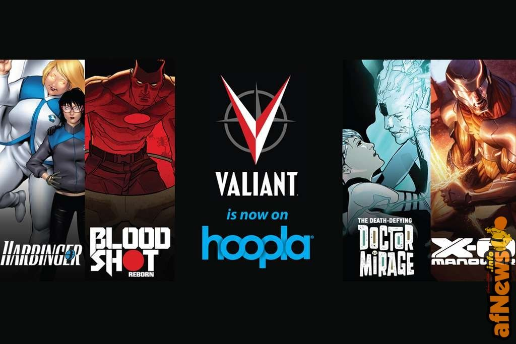 Valiant Joins With Hoopla, Brings X-O Manowar, Bloodshot and More to Digital Library Service - http://www.afnews.info/wordpress/2015/11/18/valiant-joins-with-hoopla-brings-x-o-manowar-bloodshot-and-more-to-digital-library-service/
