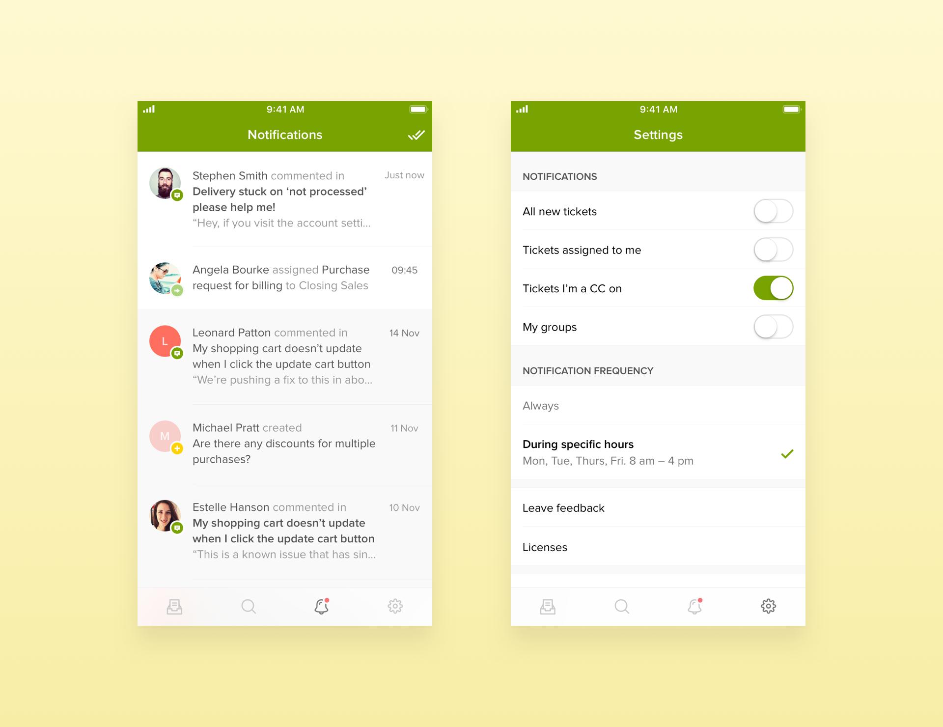 Zendesk Support iOS App Notifications | DESIGN // web