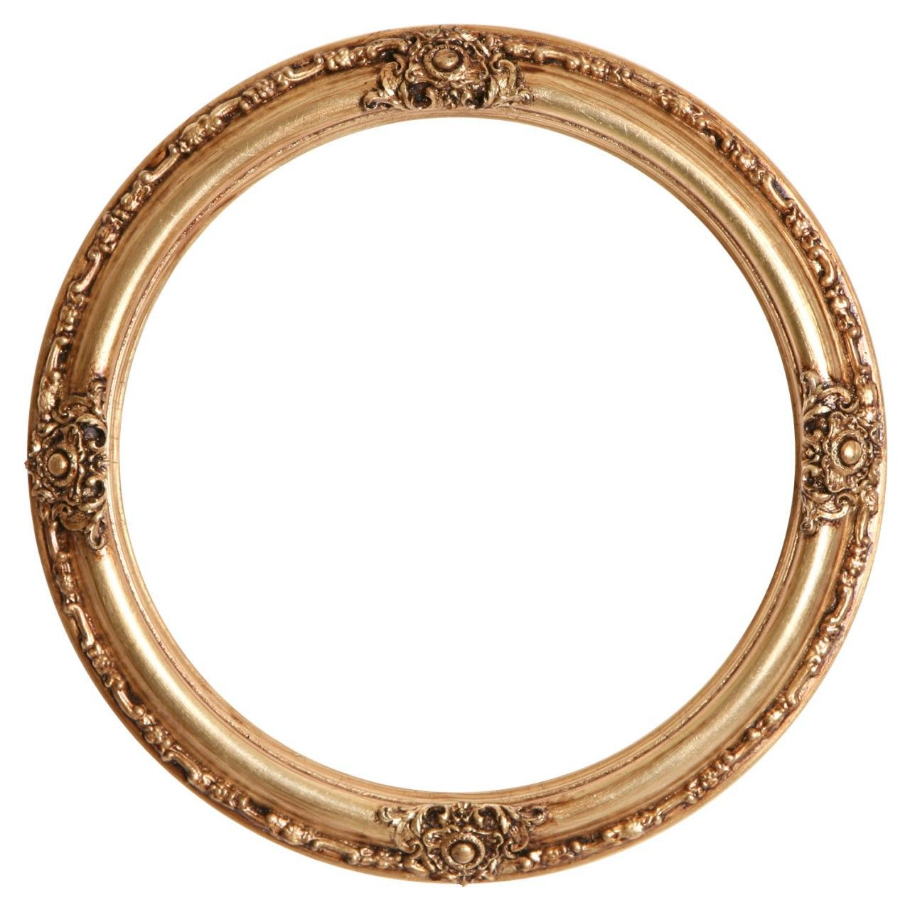 Jefferson Round Frame 601 Gold Leaf Gold Picture Frames Round Picture Frames Oval Picture Frames