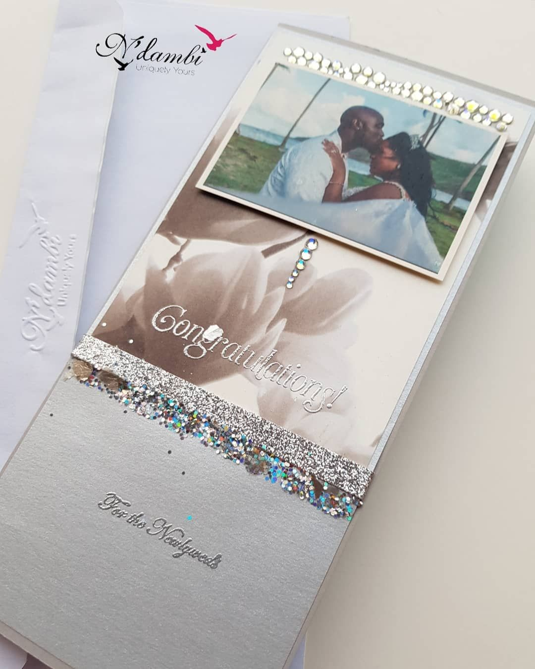 Love & Glitter! Uniquely Yours . . . . . . . #ndambicards #uniquelyuours #handmadecards #weddings #weddingcards #love #marriage #weddedbliss