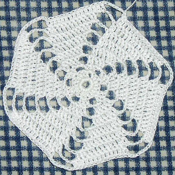 Hexagon Spiral Motif - Free Original Patterns - Crochetville | Free ...