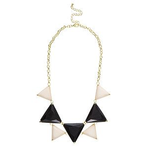 Triangle+Necklace+-+Black+++Cream