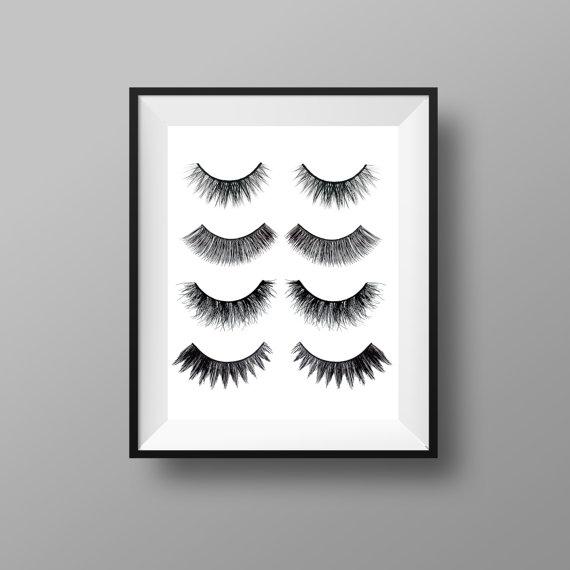 eye lashes print makeup print makeup decor eyelashes